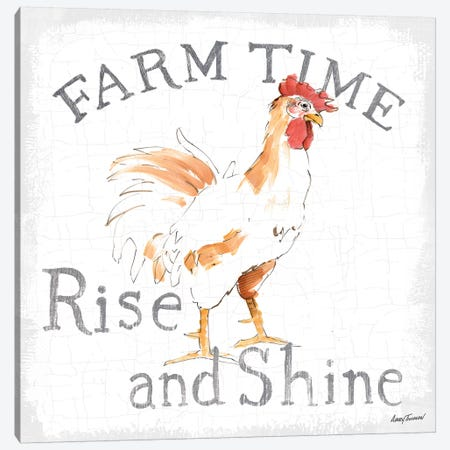 Farm Time enamel Canvas Print #ATI28} by Avery Tillmon Canvas Art