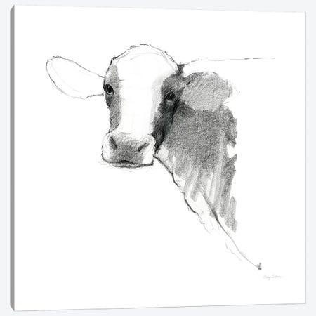 Cow II Dark Square Canvas Print #ATI33} by Avery Tillmon Canvas Print