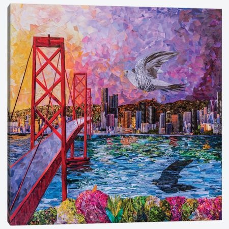 One Flew Over The San Francisco Canvas Print #ATK27} by Albin Talik Canvas Print
