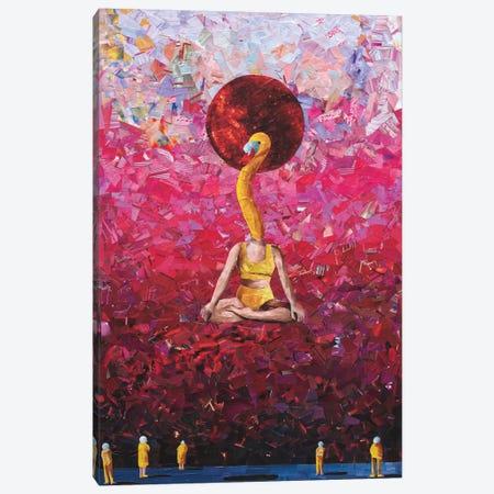 Swan King Canvas Print #ATK38} by Albin Talik Canvas Print