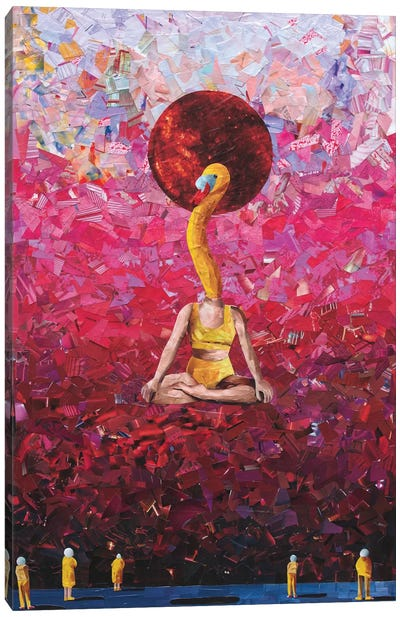 Swan King Canvas Art Print