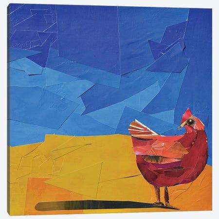Hen Canvas Print #ATK46} by Albin Talik Canvas Art Print