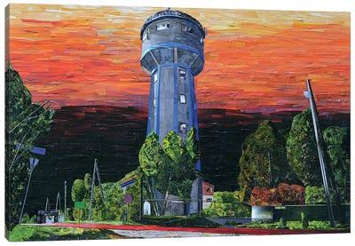 Watertower Canvas Art Print