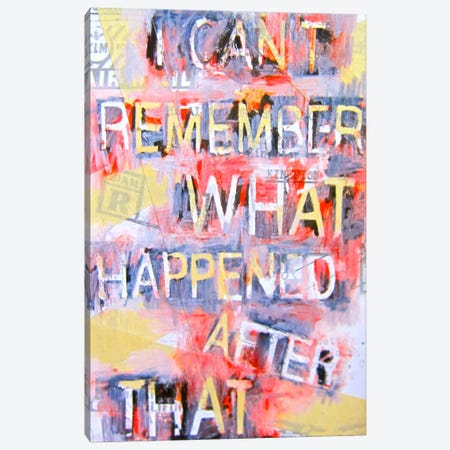 I Can't Remember What Happened Canvas Print #ATO11} by Annie Terrazzo Canvas Print