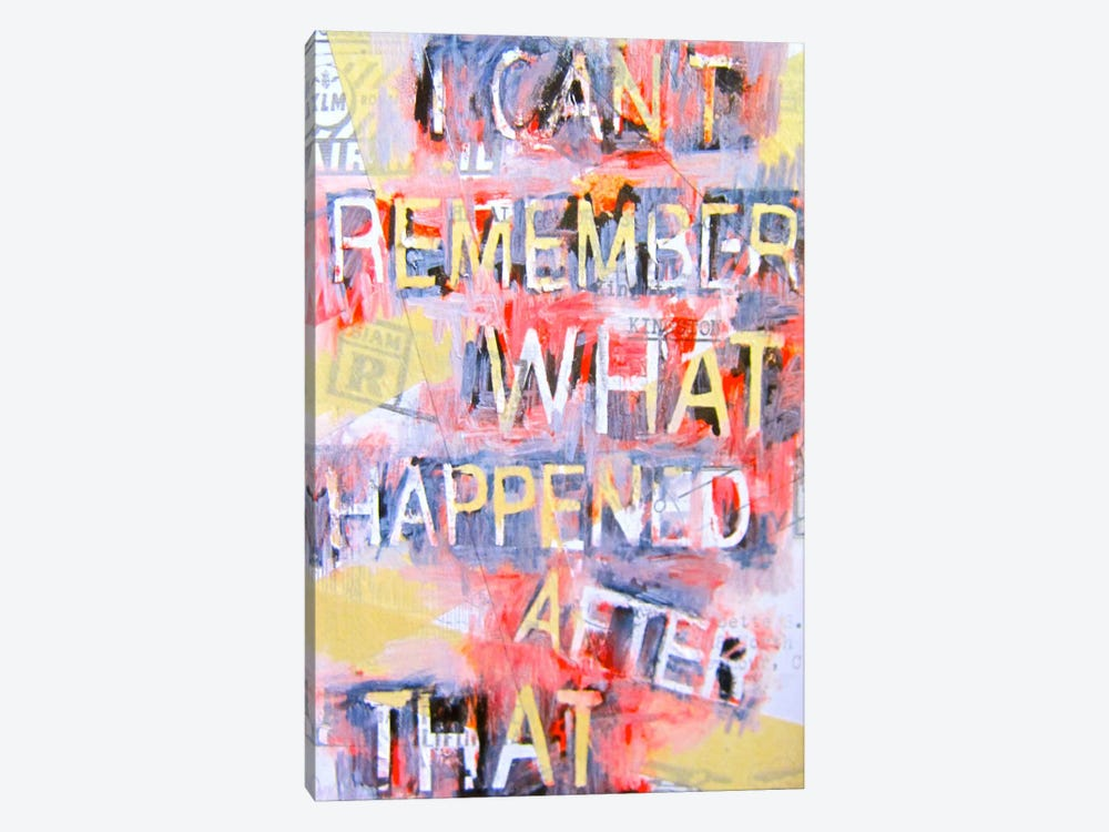 I Can't Remember What Happened by Annie Terrazzo 1-piece Canvas Art