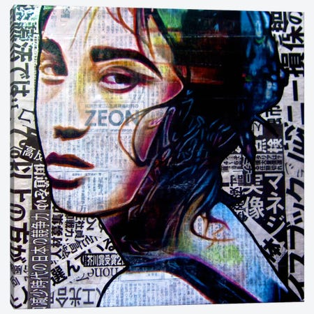 Tokyo Neon Canvas Print #ATO13} by Annie Terrazzo Art Print