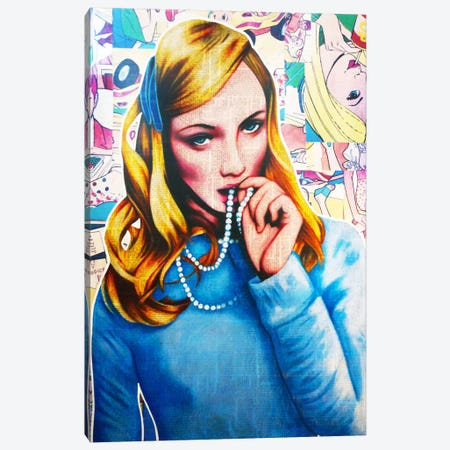 Pearl Canvas Print #ATO18} by Annie Terrazzo Art Print
