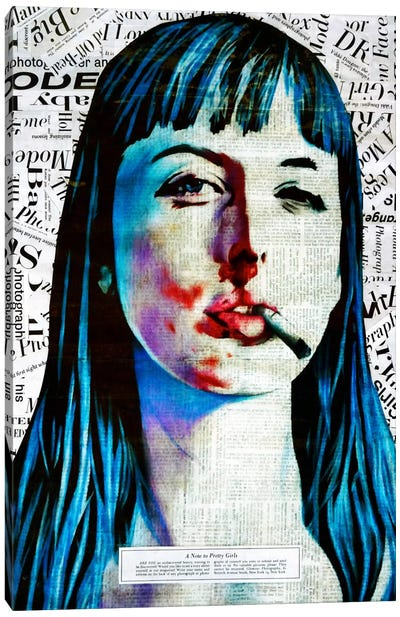 A Note To Pretty Girls Canvas Print #ATO20