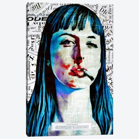A Note To Pretty Girls Canvas Print #ATO20} by Annie Terrazzo Canvas Wall Art