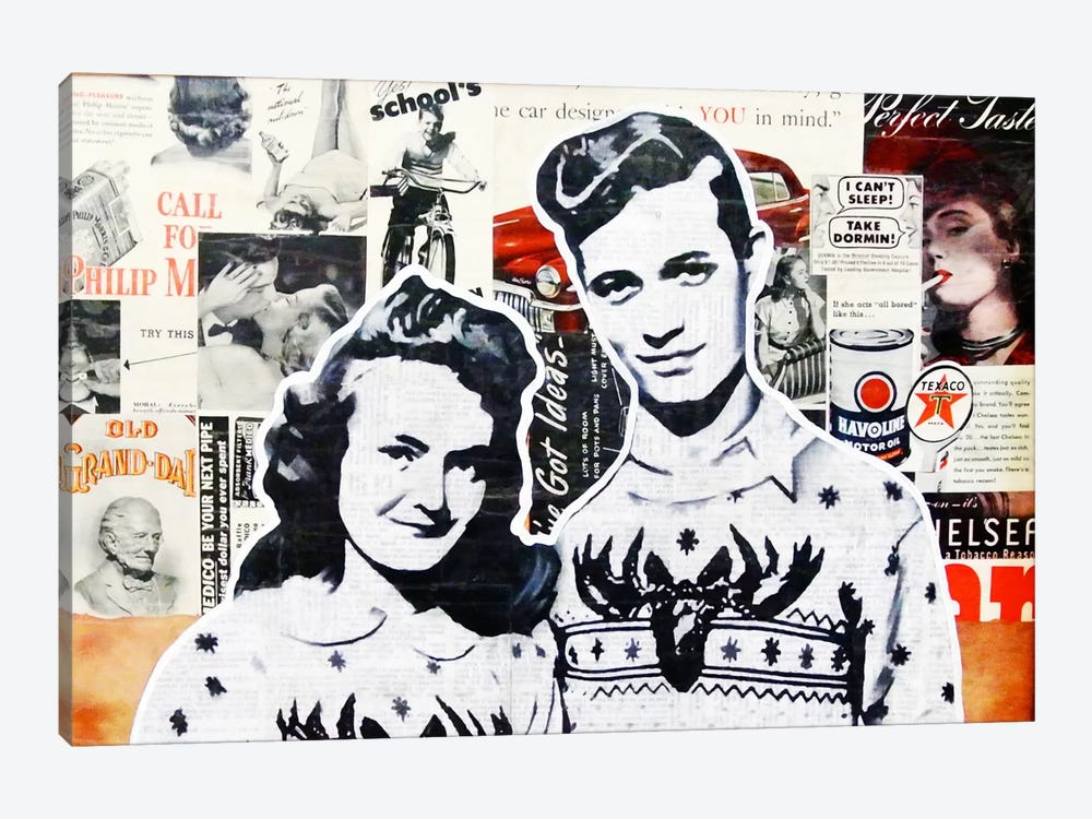 Sex Drugs and Stag Sweaters by Annie Terrazzo 1-piece Canvas Artwork