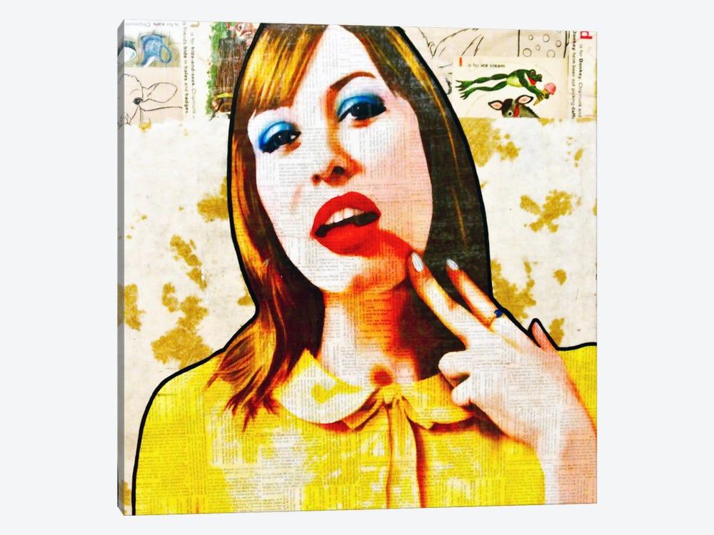 Smear It All Off by Annie Terrazzo 1-piece Canvas Artwork