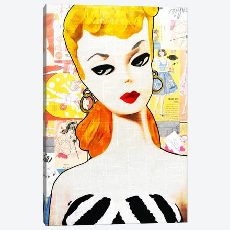 Barbie Canvas Print #ATO28} by Annie Terrazzo Canvas Art