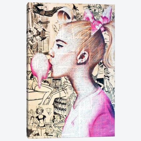 Dream Girl Canvas Print #ATO34} by Annie Terrazzo Canvas Art