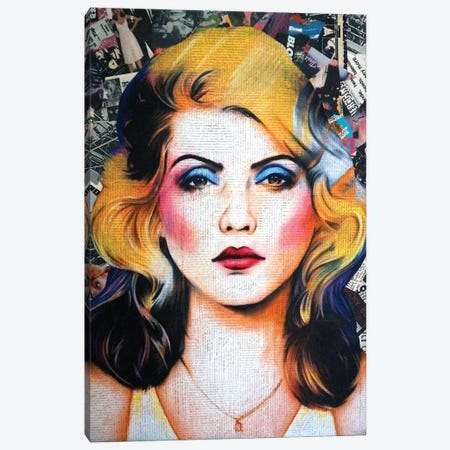 Blondie Canvas Print #ATO37} by Annie Terrazzo Canvas Wall Art
