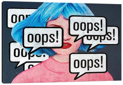Oops Canvas Art Print