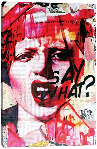 Say What Canvas Art Print
