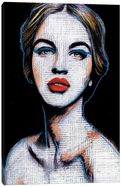 I Can't Smile I Have Too Much Makeup On Canvas Art Print