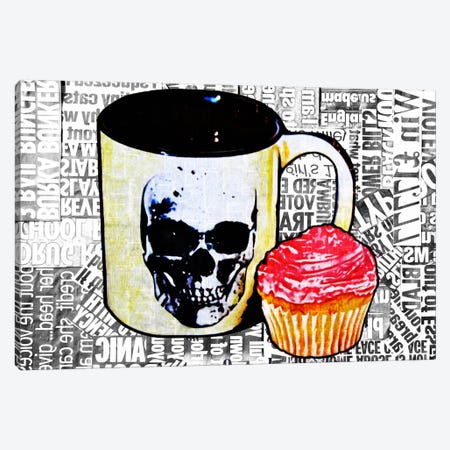 Cake Or Death Canvas Print #ATO6} by Annie Terrazzo Canvas Art