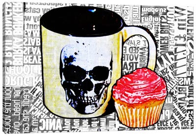 Cake Or Death Canvas Art Print