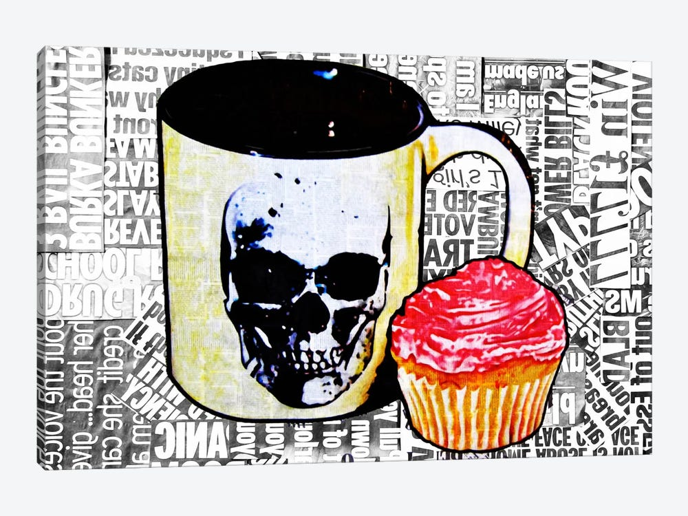 Cake Or Death by Annie Terrazzo 1-piece Canvas Art