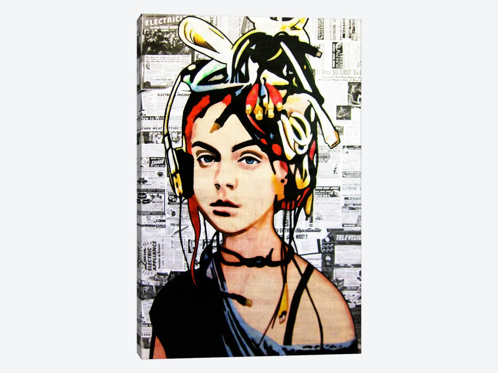 Wired by Annie Terrazzo 1-piece Canvas Art Print
