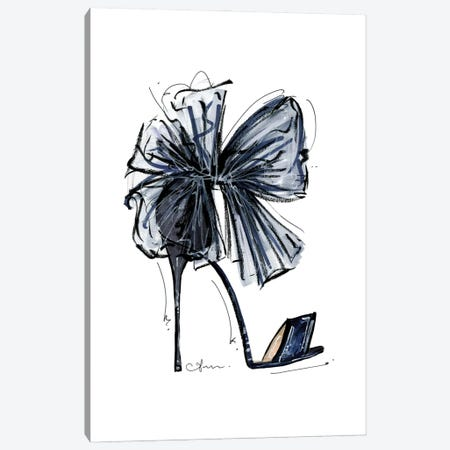 Blue Bow Canvas Print #ATQ5} by Anum Tariq Art Print