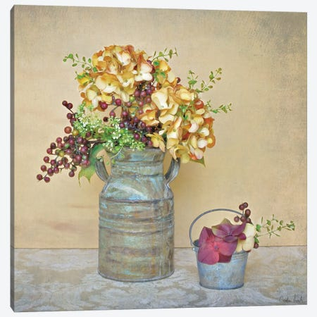 Caramel Hydrangeas Canvas Print #ATR1} by Cristin Atria Canvas Print