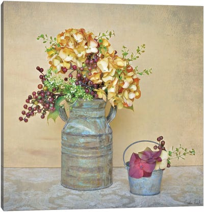 Caramel Hydrangeas Canvas Art Print