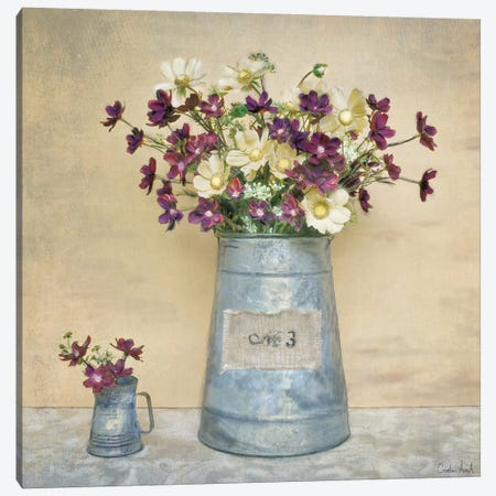 Plum Daisies 3-Piece Canvas #ATR4} by Cristin Atria Canvas Art