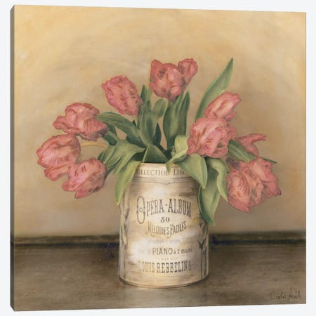 Royal Tulips Canvas Print #ATR6} by Cristin Atria Canvas Artwork