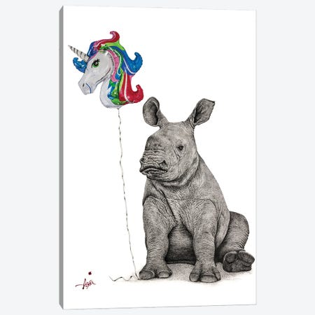 Unicorns Do Exist... I Will Be One Canvas Print #ATT12} by Astra Taylor-Todd Canvas Artwork