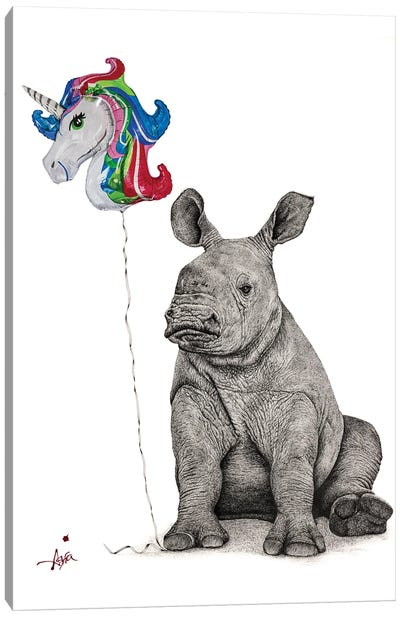 Unicorns Do Exist... I Will Be One Canvas Art Print