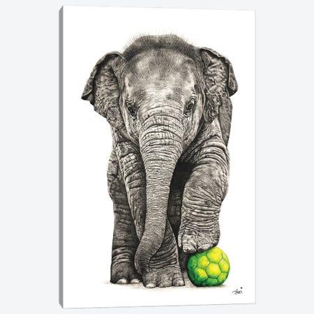 Playtime Elephant Canvas Print #ATT13} by Astra Taylor-Todd Canvas Artwork