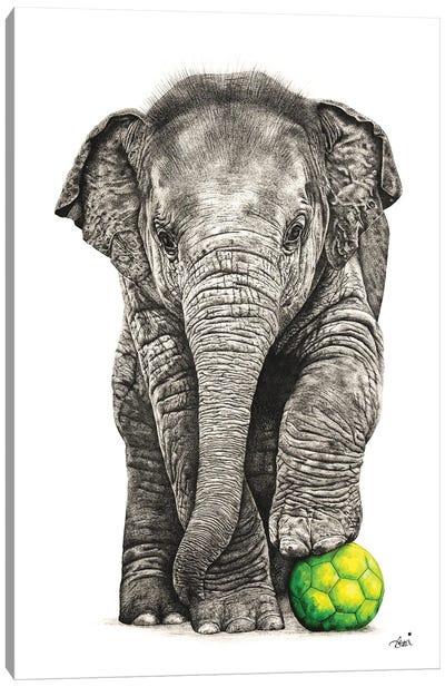 Playtime Elephant Canvas Art Print