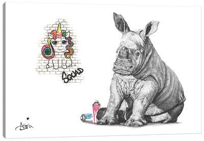 Chubby Unicorn Squad Canvas Art Print