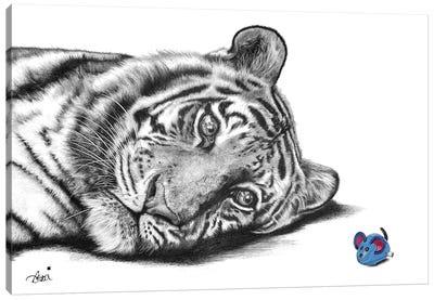 Tiger Mouse Canvas Art Print