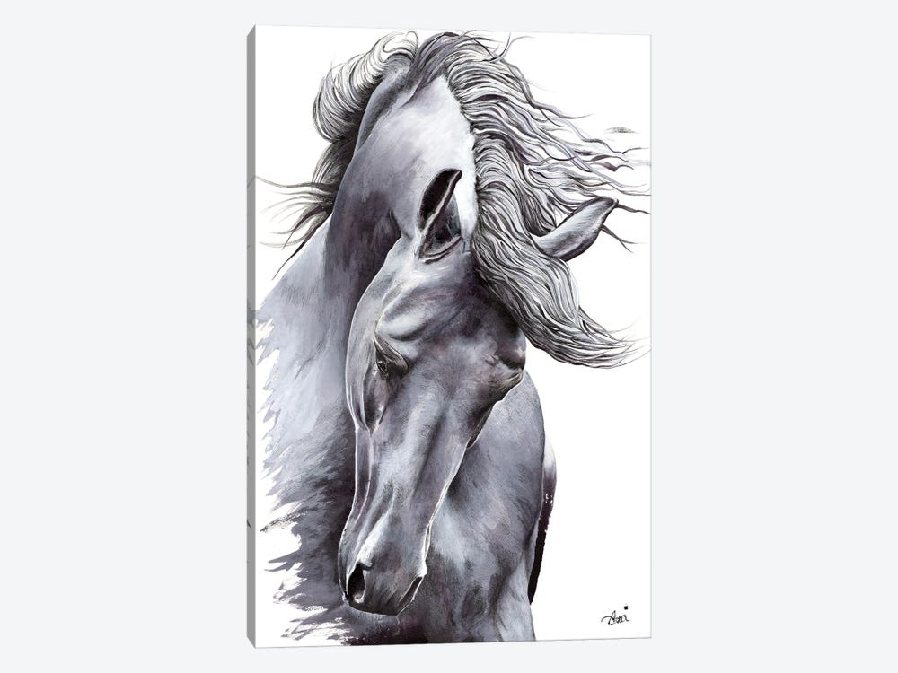 White Horse by Astra Taylor-Todd 1-piece Canvas Art