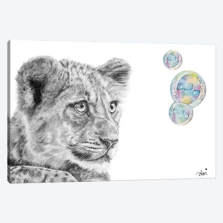 Bubble Cub Canvas Print #ATT7} by Astra Taylor-Todd Canvas Wall Art