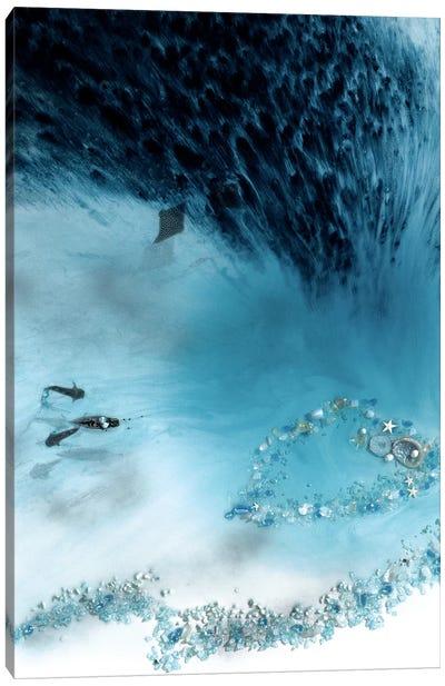 Grey Lagoon Canvas Art Print