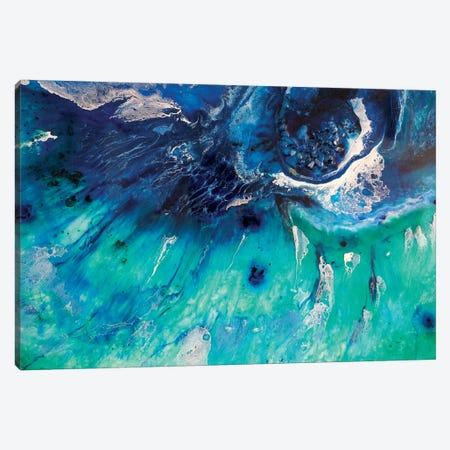 Aqua Green Bondi Surf Canvas Print #ATU2} by Antuanelle Canvas Artwork