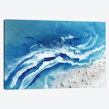 Bali Utopia Grey Canvas Print #ATU3} by Antuanelle Canvas Artwork