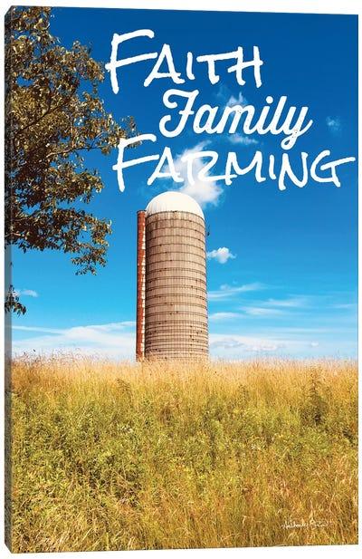 Faith, Family, Farming Silo Canvas Art Print