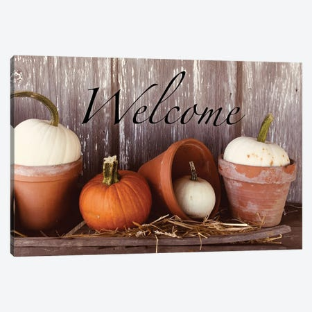 Welcome Pumpkin Shelf Canvas Print #ATY6} by Anthony Smith Canvas Print