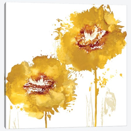 Flower Burst In Amber I Canvas Print #AUS10} by Vanessa Austin Canvas Art