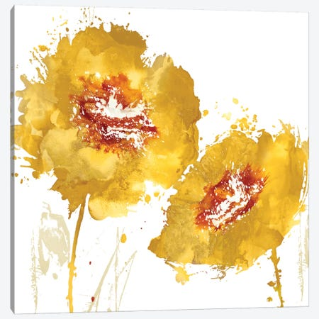 Flower Burst In Amber II Canvas Print #AUS11} by Vanessa Austin Canvas Art