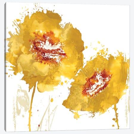Flower Burst In Amber II Canvas Print #AUS11} by Vanessa Austin Canvas Art
