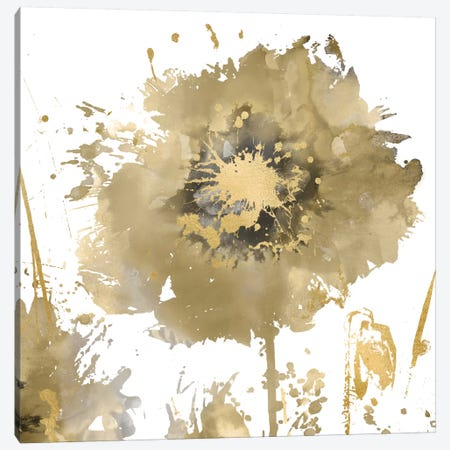 Flower Burst In Gold I Canvas Print #AUS14} by Vanessa Austin Canvas Print