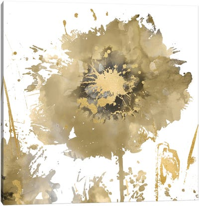 Flower Burst In Gold I Canvas Art Print