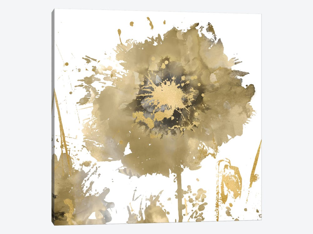Flower Burst In Gold I by Vanessa Austin 1-piece Canvas Art