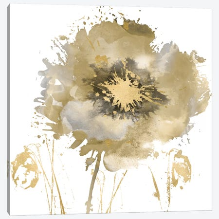 Flower Burst In Gold II Canvas Print #AUS15} by Vanessa Austin Canvas Print